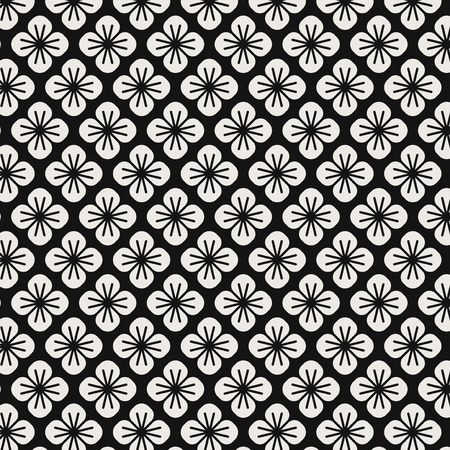 Seamless Japanese pattern with floral motif vector Banque d'images - 126250661