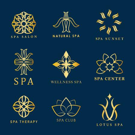 Set di vettori logo spa Logo