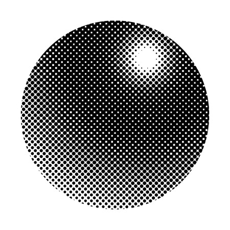 Black halftone badge on white background vector  イラスト・ベクター素材
