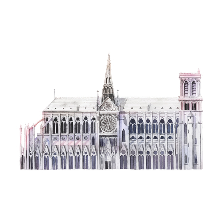 Notre dame in Paris vector