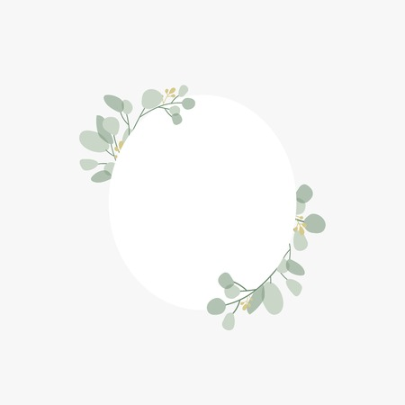 Floral themed badge design vector Illustration