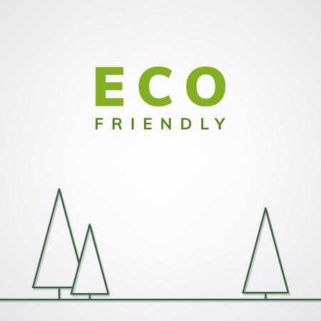 Eco friendly symbol on white background