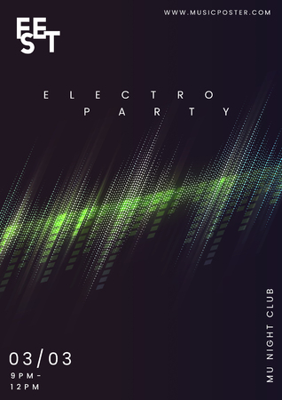 Night party music poster vector  イラスト・ベクター素材