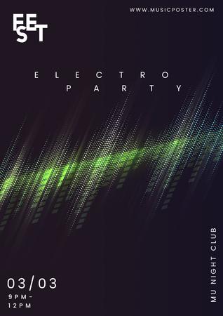 Vettore di poster di musica per feste notturne