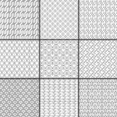 Ensemble de vecteur d'arrière-plans à motifs géométriques