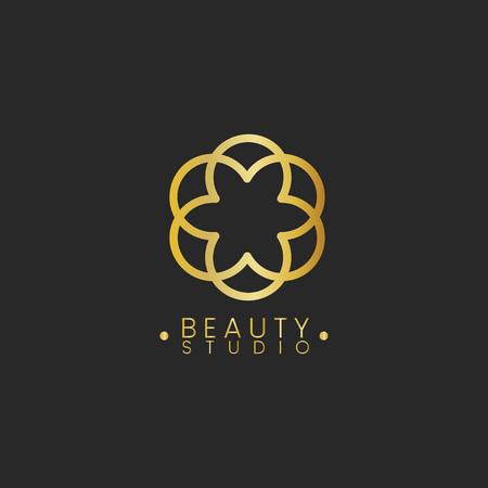 Vettore del logo del design dello studio di bellezza