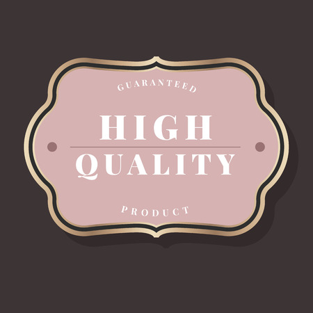 Guaranteed high quality product badge vector Banque d'images - 115280304