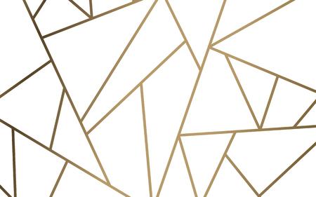 Papel pintado de mosaico moderno en blanco y dorado