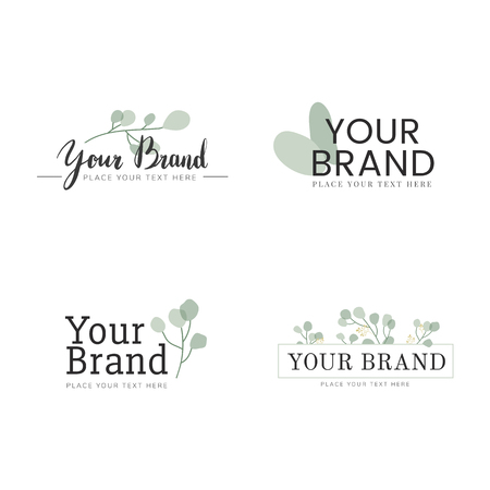 Foliage your brand logo vector set