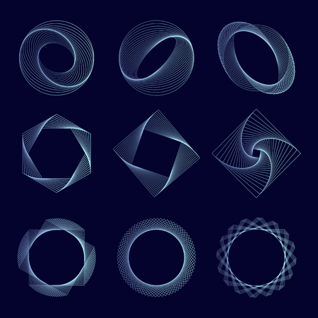 Abstract geometric elements set vector Stock Vector - 115280338