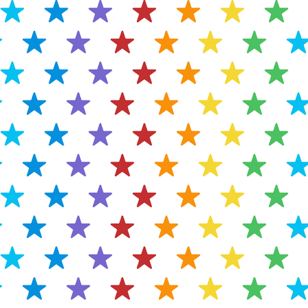 Seamless colorful star pattern vector