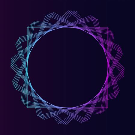 Vector de elemento geométrico circular abstracto Ilustración de vector