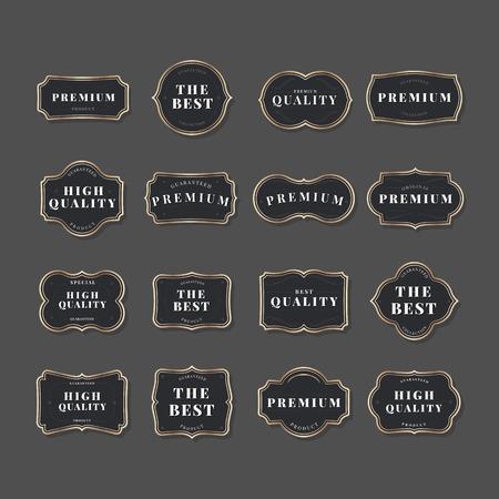 Black vintage premium badge vectors Banque d'images - 115280344