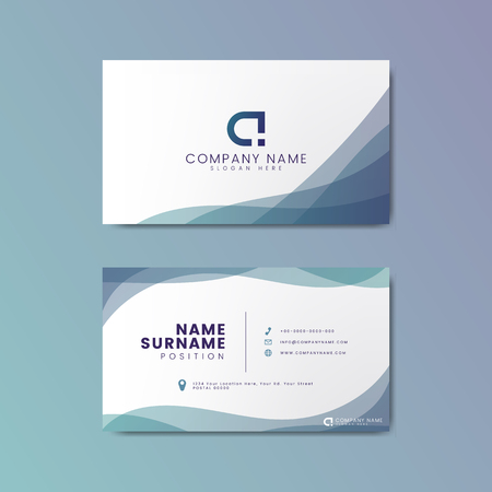 Modern geometric business card design 版權商用圖片 - 115280347