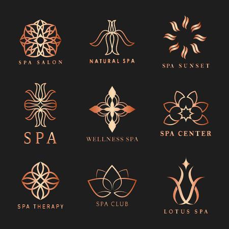 Ensemble de vecteurs de logo de spa