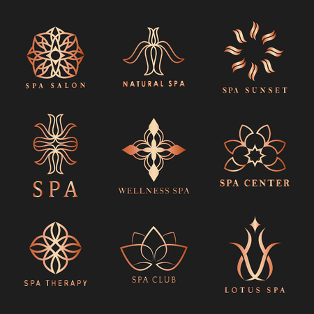 Set of spa logo vectors