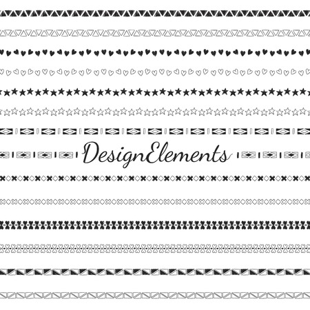 Divider line design elements vector collection Ilustrace