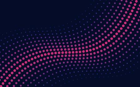 Pink wave halftone background vector