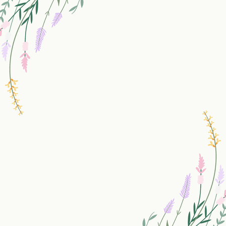 Floral pattern with blank space vector