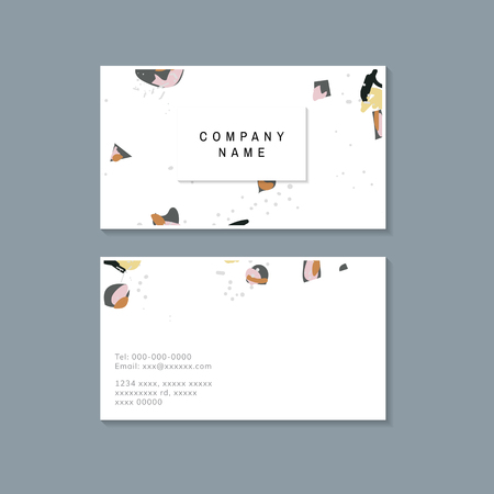 Colorful Terrazzo pattern business card vector 版權商用圖片 - 115280365