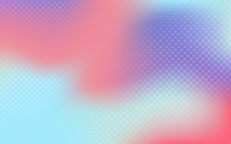 Multicolor gradient halftone background vector Ilustração