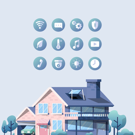 Smart home vector pack with icons 向量圖像