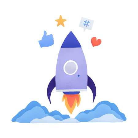 Trending on social media vector