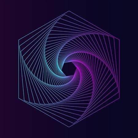 Abstract hexagon geometric element vector 向量圖像