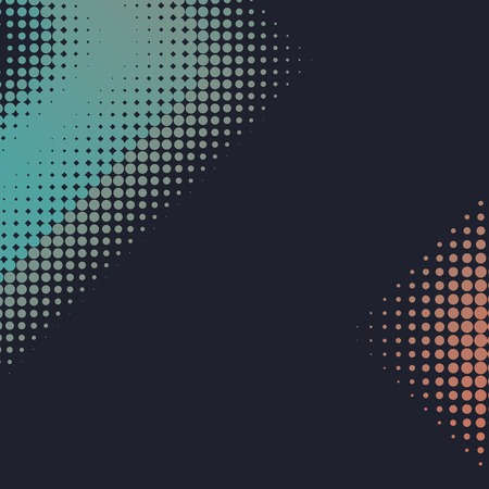 Green and orange halftone background vector