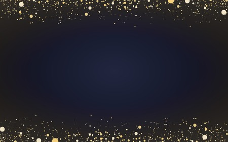 Minimal wallpaper with decorative gold glitter particles