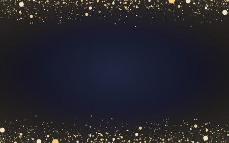Papel pintado minimalista con partículas decorativas de purpurina dorada.