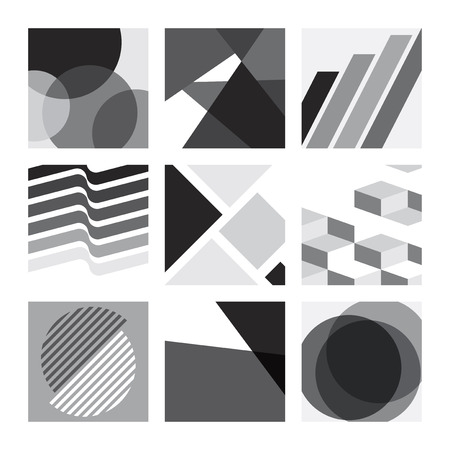 Schwarz-Weiß-Kollektion mit Schweizer Grafikdesignmustern
