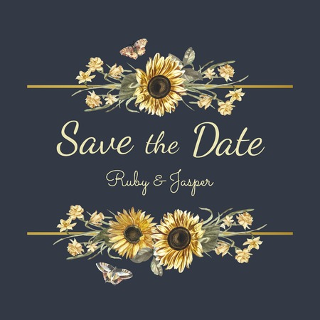 Save the date wedding invitation mockup vector Stock fotó - 115280424