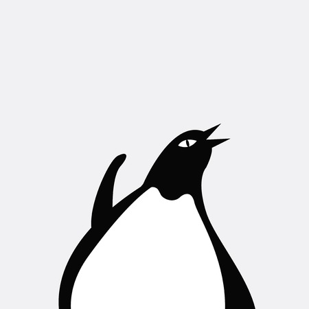 Cute wildlife penguin cartoon vector  イラスト・ベクター素材