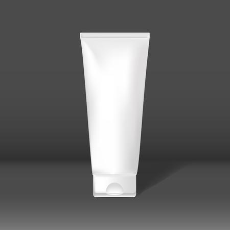 Beauty care tube mockup vector
