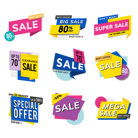 Sale promotion advertisements vector set