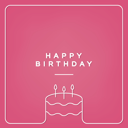 Birthday celebration greeting card vector Banco de Imagens - 126213191