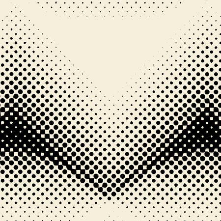 Black and beige halftone background vector  イラスト・ベクター素材