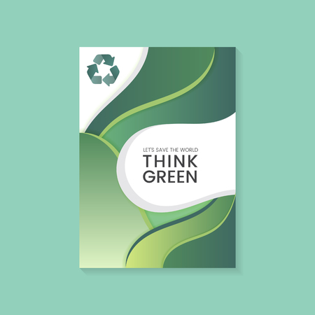 Think green environmental conservation poster vector