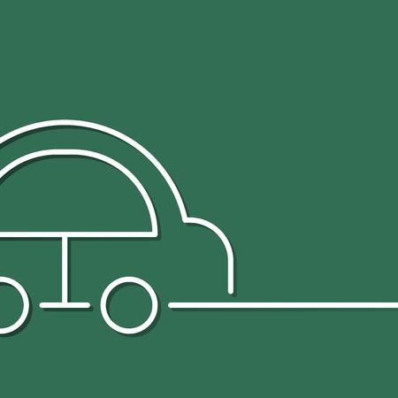 Drive an eco friendly hybrid car vector