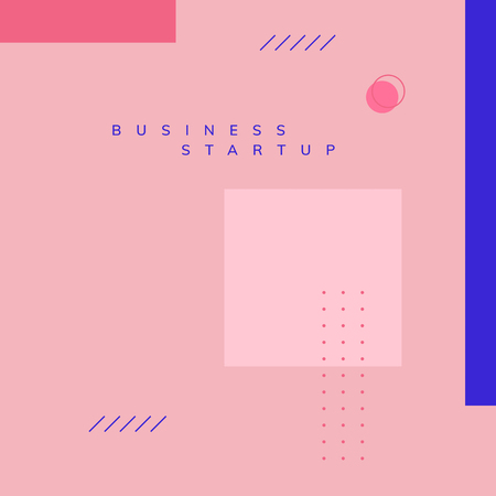 Minimal Memphis business start-up poster vector Ilustracja