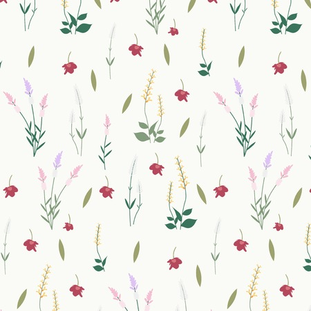Wild flower seamless pattern vector 向量圖像
