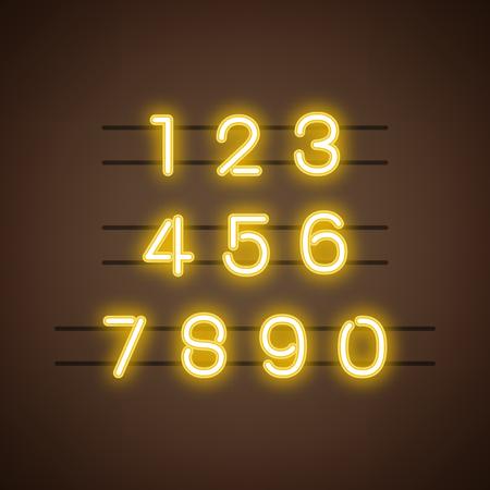 Nummer 0-9 cijfersysteem vector Vector Illustratie