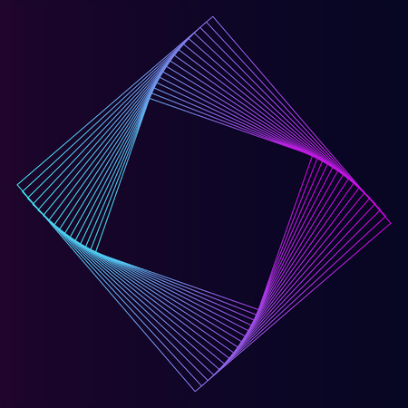 Abstract square geometric element vector Illustration