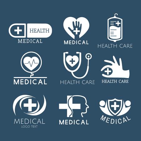 Medical service logos vector set