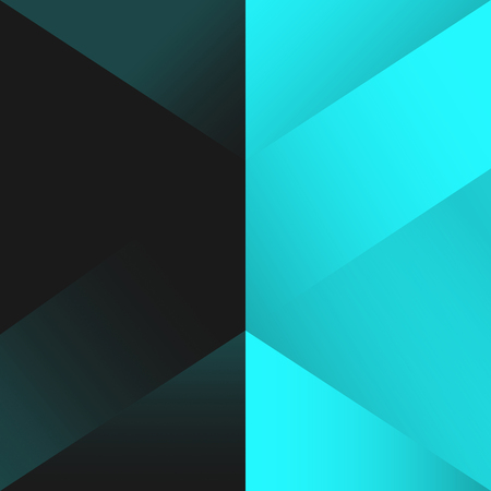 Turquoise geometrical background design vector