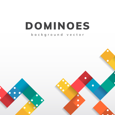Colorful blocks on blank white background vector Stock Illustratie