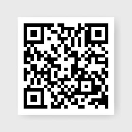 Flat QR code in black vector