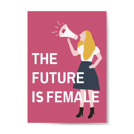 The future is female vector