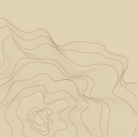Brown abstract map contour lines background 일러스트